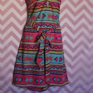 Dresses - Colorful Aztec Boho Dress Size M NWT
